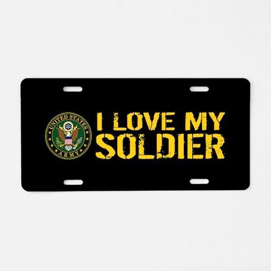 U.S. Army: I Love My Soldie Aluminum License Plate
