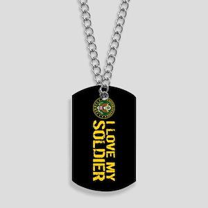 U.S. Army: I Love My Soldier (Black & Gol Dog Tags
