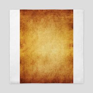 Yellow Brown Parchment Paper Textured Queen Duvet