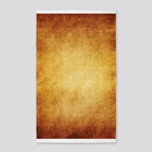 Yellow Brown Parchment Paper Textured Bac Area Rug