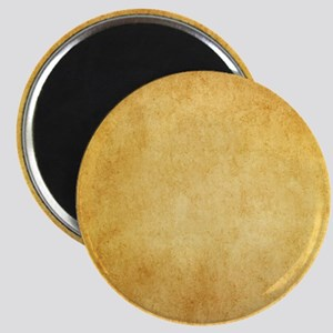 Yellow Brown Parchment Paper Textured Back Magnets