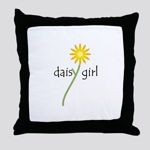 Daisy Girl Throw Pillow