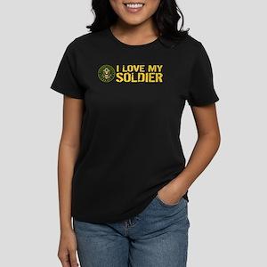 U.S. Army: I Love My Soldier Women's Dark T-Shirt