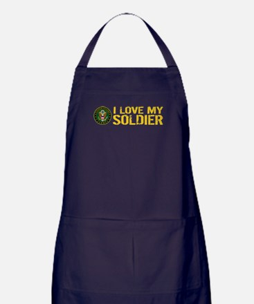 U.S. Army: I Love My Soldier (Black & Apron (dark)