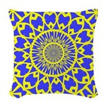 yellow_wheels_png Woven Throw Pillow