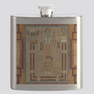 Harvest Moons Navajo Sand Painting Flask