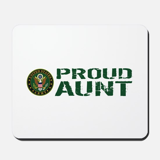 U.S. Army: Proud Aunt (Green & White) Mousepad