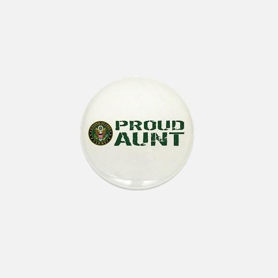 U.S. Army: Proud Aunt (Green & White) Mini Button