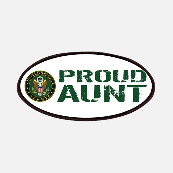 U.S. Army: Proud Aunt (Green & White) Patch
