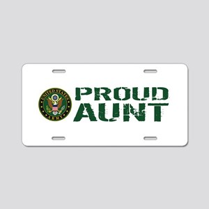 U.S. Army: Proud Aunt (Gree Aluminum License Plate