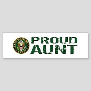 U.S. Army: Proud Aunt (Green & Wh Sticker (Bumper)