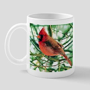 Red Finch Cardinal Mug
