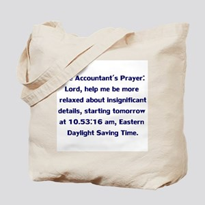 Accountant's Prayer Tote Bag