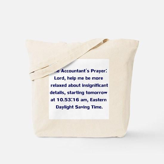 Accountant's Prayer Tote Bag