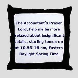 Accountant's Prayer Throw Pillow