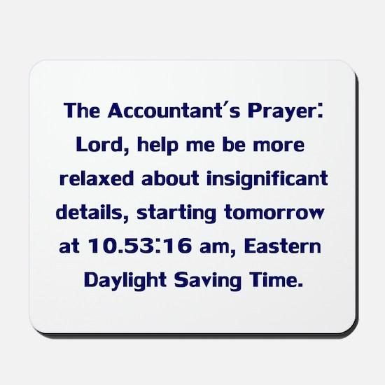 Accountant's Prayer Mousepad