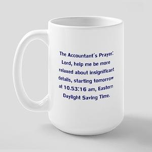 Accountant's Prayer Large Mug