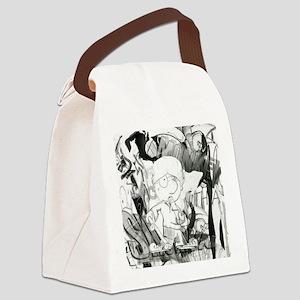 Monkey With A Shotgun Canvas Lunch Bag