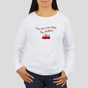 Polish Dupa 3 Women's Long Sleeve T-Shirt