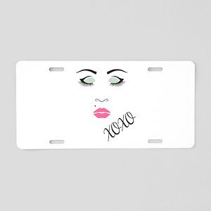 Beauty Queen XOXO Aluminum License Plate
