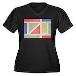 ArtRoger Women's Plus Size V-Neck Dark T-Shirt