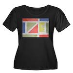 ArtRoger Women's Plus Size Scoop Neck Dark T-Shirt