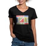 ArtRoger Women's V-Neck Dark T-Shirt