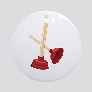Plungers Round Ornament