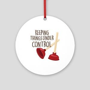 Under Control Round Ornament