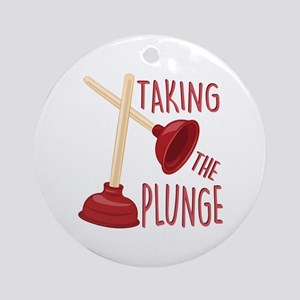 The Plunge Round Ornament