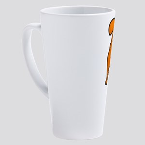 Funny Happy Orange Kitty Cat Butt 17 oz Latte Mug