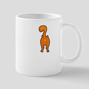 Funny Happy Orange Kitty Cat Butt Mugs