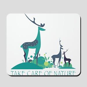 Take care of nature - deers Mousepad