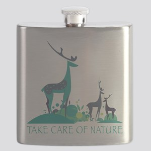 Take care of nature - deers Flask
