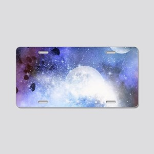 The universe Aluminum License Plate