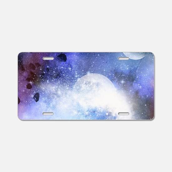The universe Aluminum License Plate