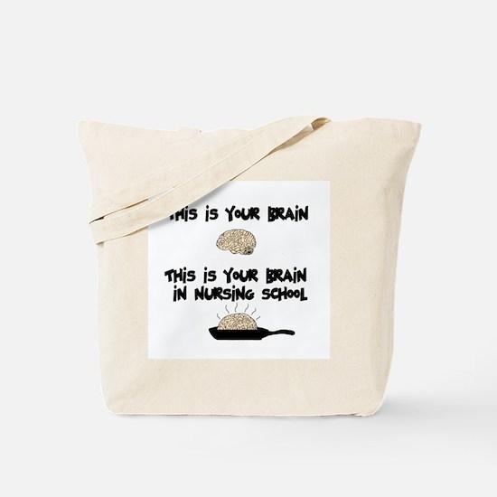 Fried Nursing Student Brain Tote Bag