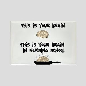 Fried Nursing Student Brain Rectangle Magnet