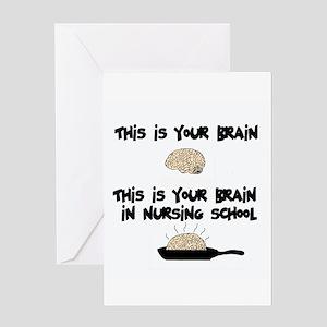 Fried Nursing Student Brain Greeting Card