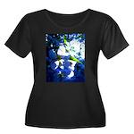 Apple Blossom Blues Women's Plus Size Scoop Neck D
