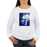 Apple Blossom Blues Women's Long Sleeve T-Shirt