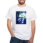 Apple Blossom Blues White T-Shirt