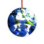 Apple Blossom Blues Ornament (Round)