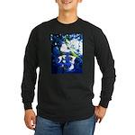 Apple Blossom Blues Long Sleeve Dark T-Shirt