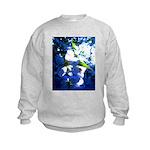 Apple Blossom Blues Kids Sweatshirt