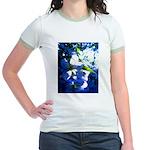 Apple Blossom Blues Jr. Ringer T-Shirt