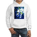Apple Blossom Blues Hooded Sweatshirt