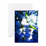Apple Blossom Blues Greeting Card