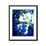 Apple Blossom Blues Framed Panel Print