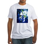 Apple Blossom Blues Fitted T-Shirt